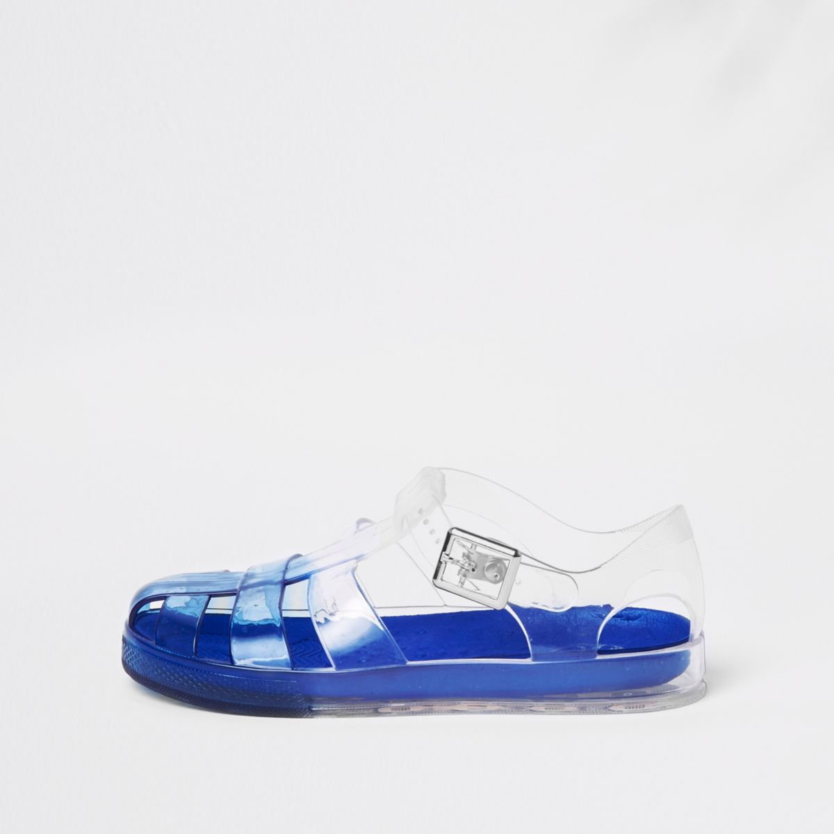 Boys blue two tone jelly sandals
