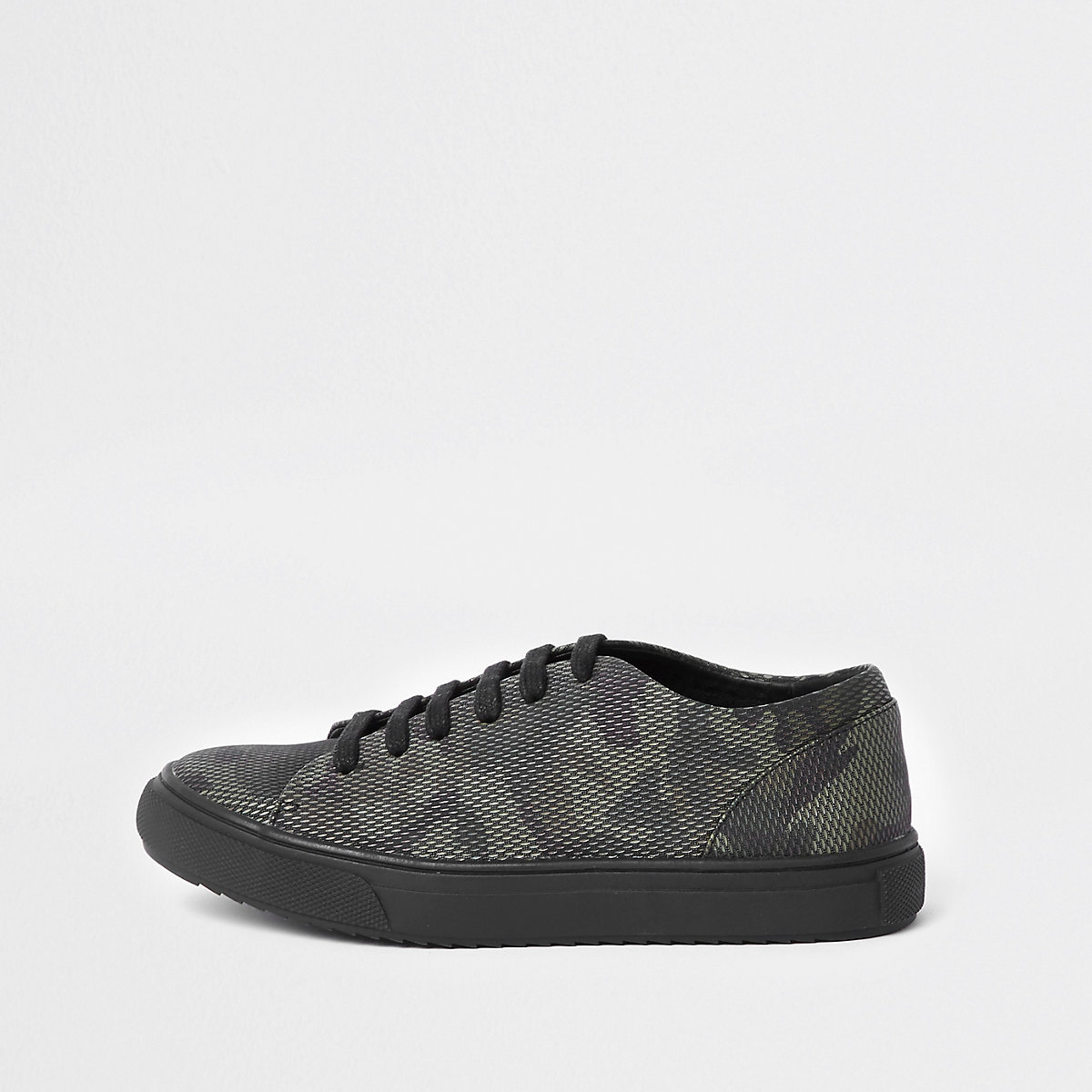 Boys camo lace up trainer