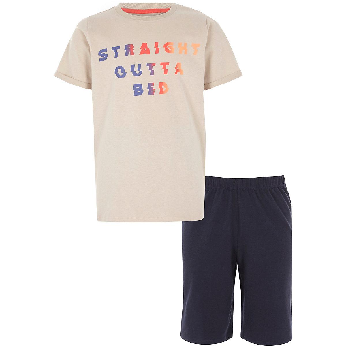 Boys stone 'straight outta bed' pyjama set