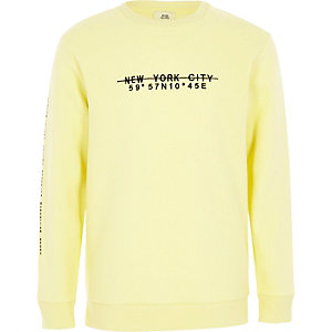 Boys yellow 'New York City' sweatshirt
