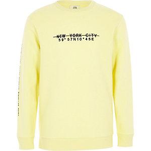 Geel sweatshirt met 'New York City'-print voor jongens