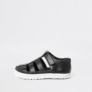 Chaussures noires effet cage mini garçon
