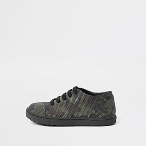 Mini boys camo lace up sneaker