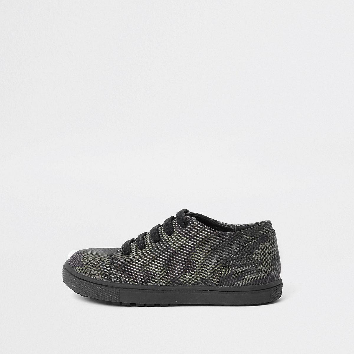 Mini boys camo lace up sneaker