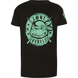 Boys black Ninja Turtles print T-shirt