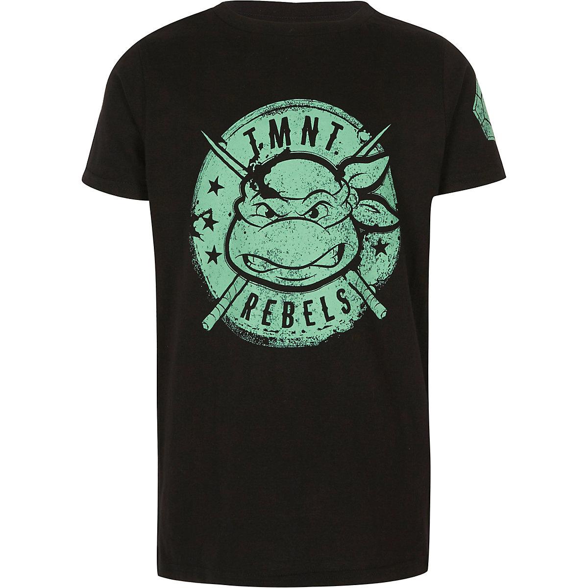 T-shirt à imprimé Tortues Ninja noir pour garçon
