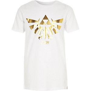 Boys white The Legend of Zelda print T-shirt