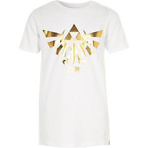 Wit T-shirt met The Legend of Zelda-print voor jongens