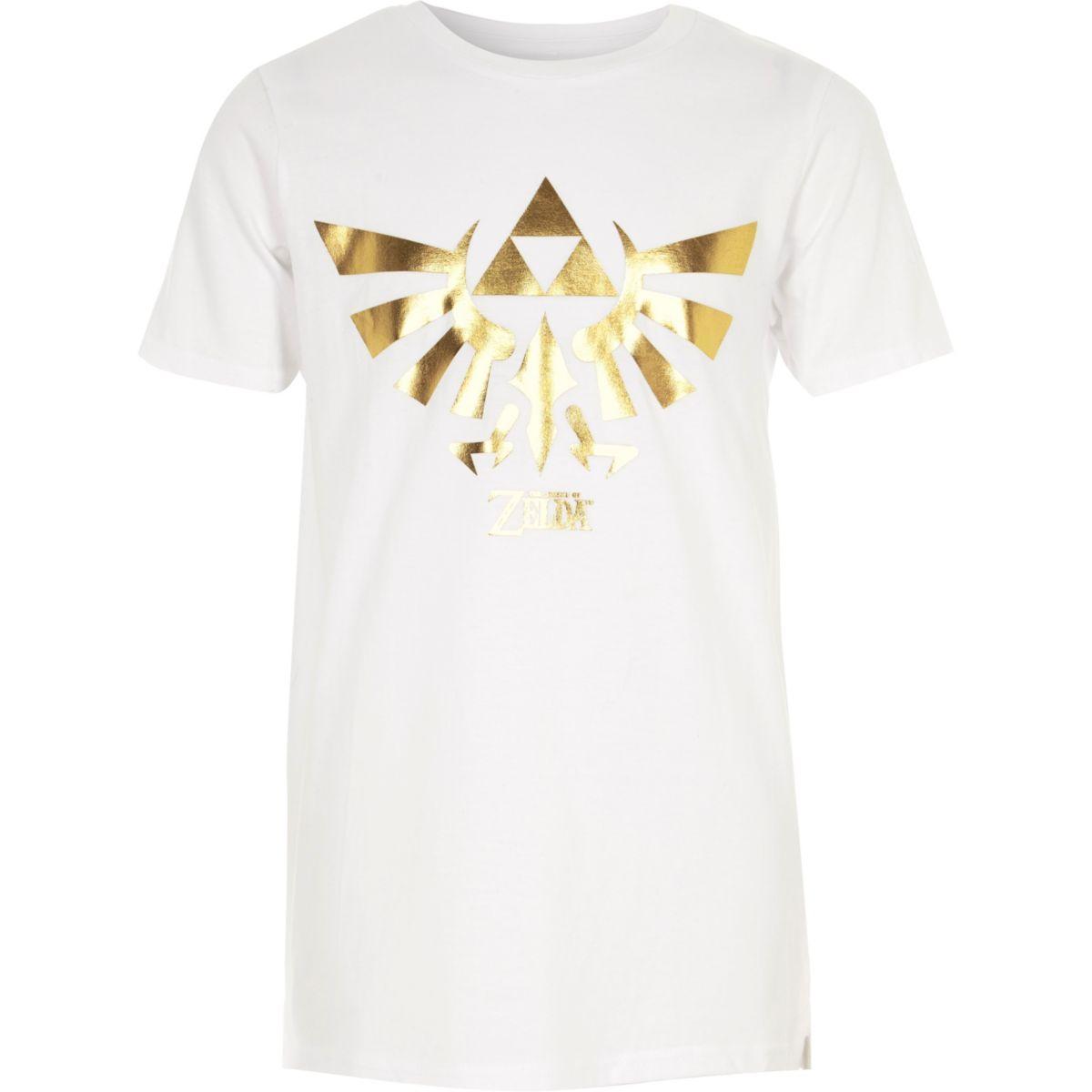 T-shirt à imprimé The Legend of Zelda blanc pour garçon