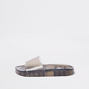 Zwarte jelly slippers voor kinderen