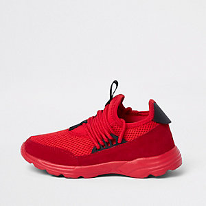 Kids red runner trainers