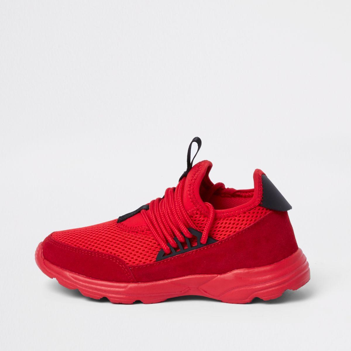 Kids red runner sneakers