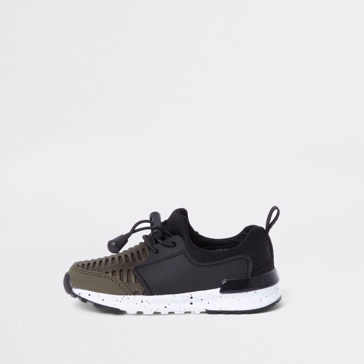 Mini boys khaki mesh runner sneakers