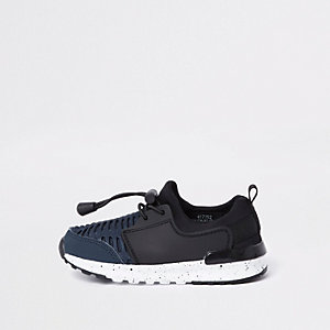 Mini boys navy mesh runner trainers