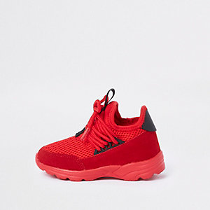 Mini kids red runner trainers