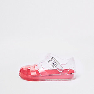 Mini boys red ombre jelly cage sandals