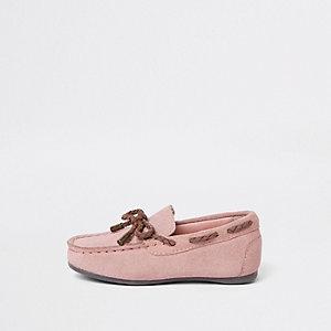 Mini - Roze mocassins voor jongens