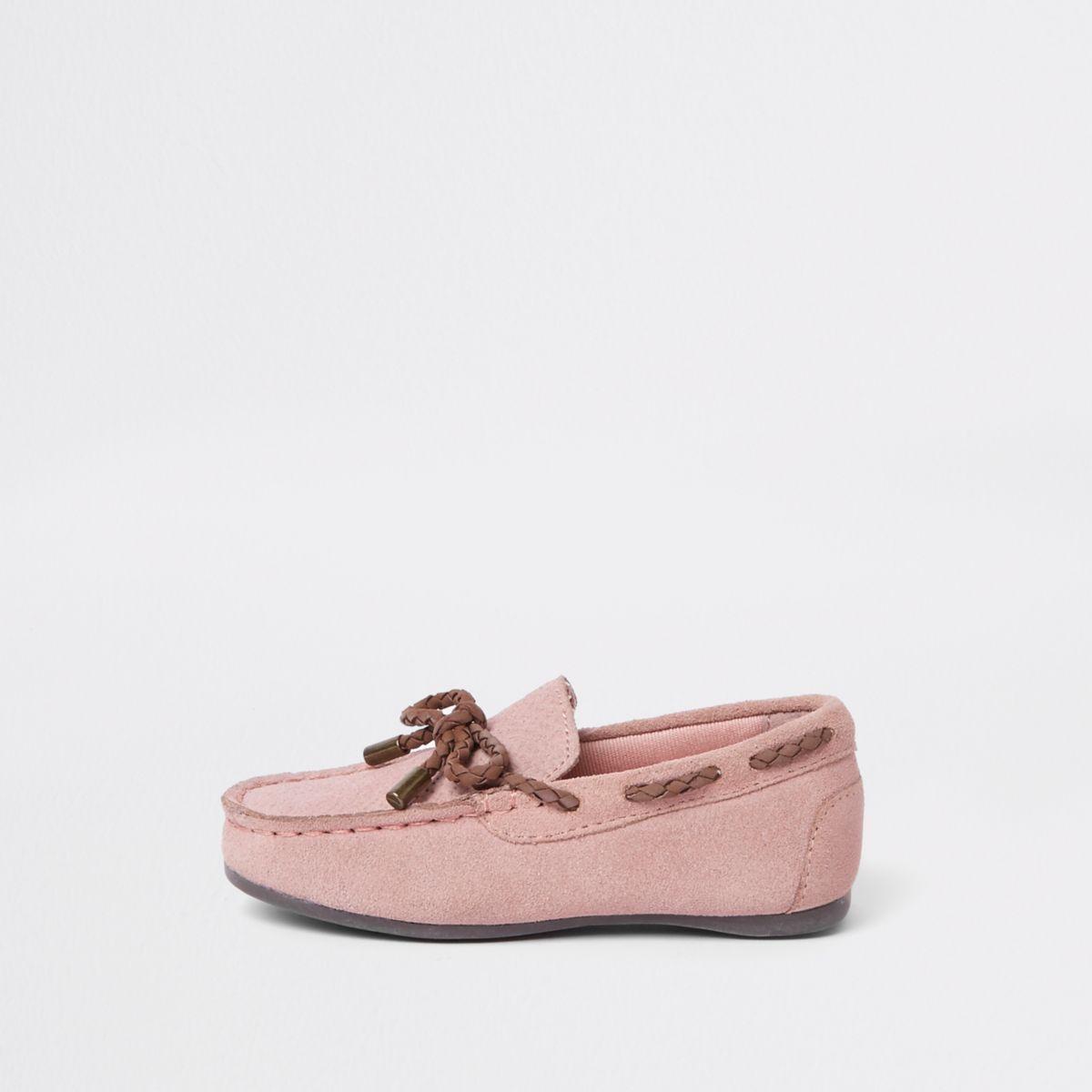 Mini boys pink mini driver shoes