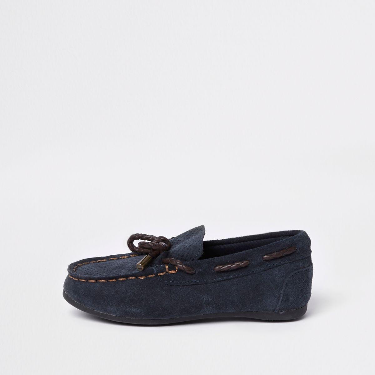 Mini boys navy mini driver shoes