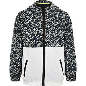 Boys khaki camo lightweight hooded jacket