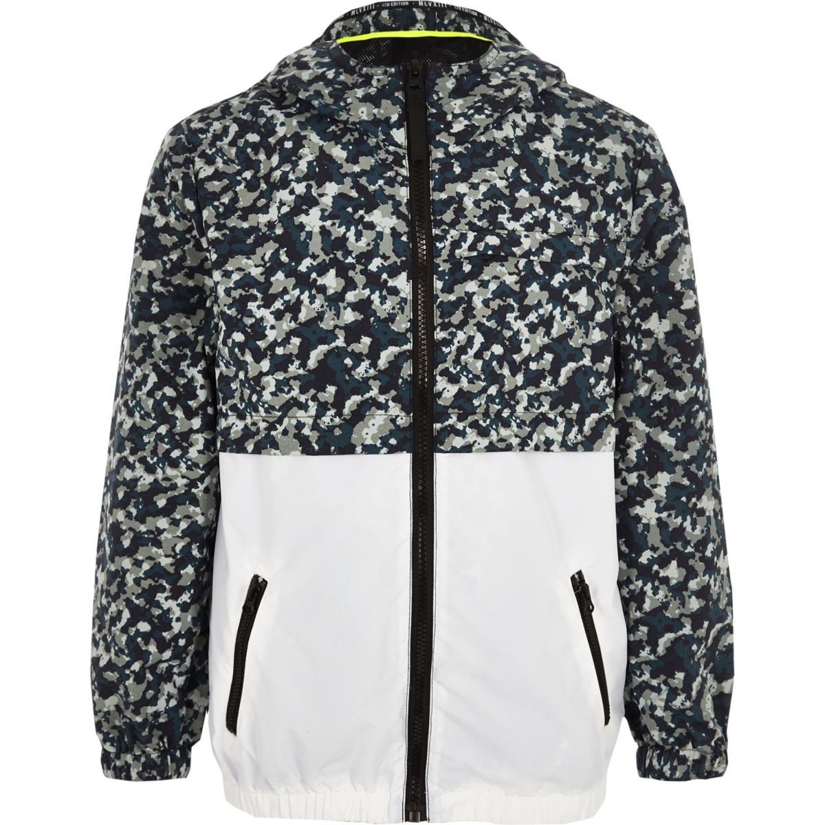 Boys khaki camo lightweight jacket