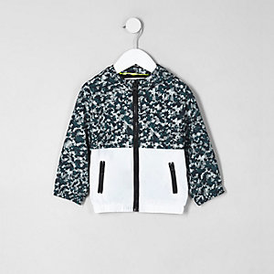 Mini boys khaki camo lightweight jacket