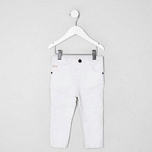 Mini boys white Sid skinny biker jeans
