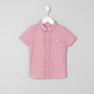 Chemise rouge à manches courtes mini garçon