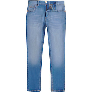 Boys blue Sid faded skinny jeans