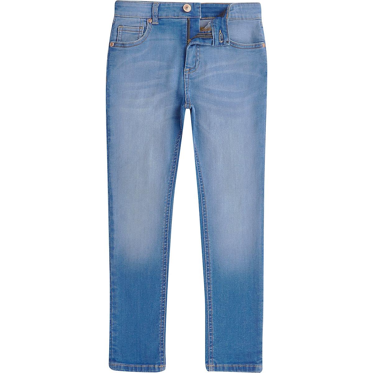 Sid – Ausgebleichte Skinny Jeans in Blau