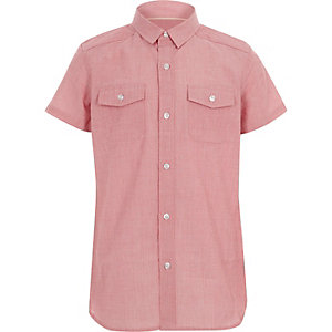 Boys red short sleeve shirt