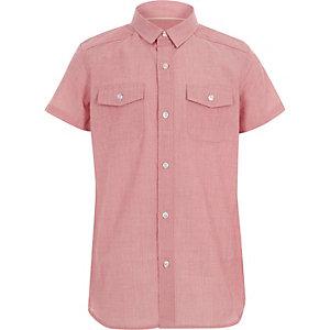 Chemise rouge à manches courtes pour garçon