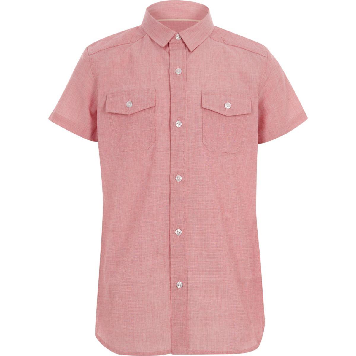 Boys red short sleeve shirt