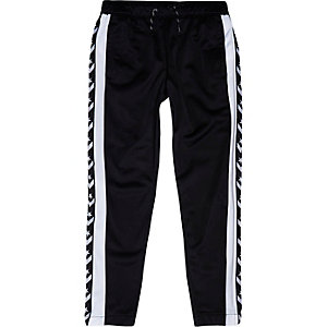 Boys Converse black tracksuit bottoms