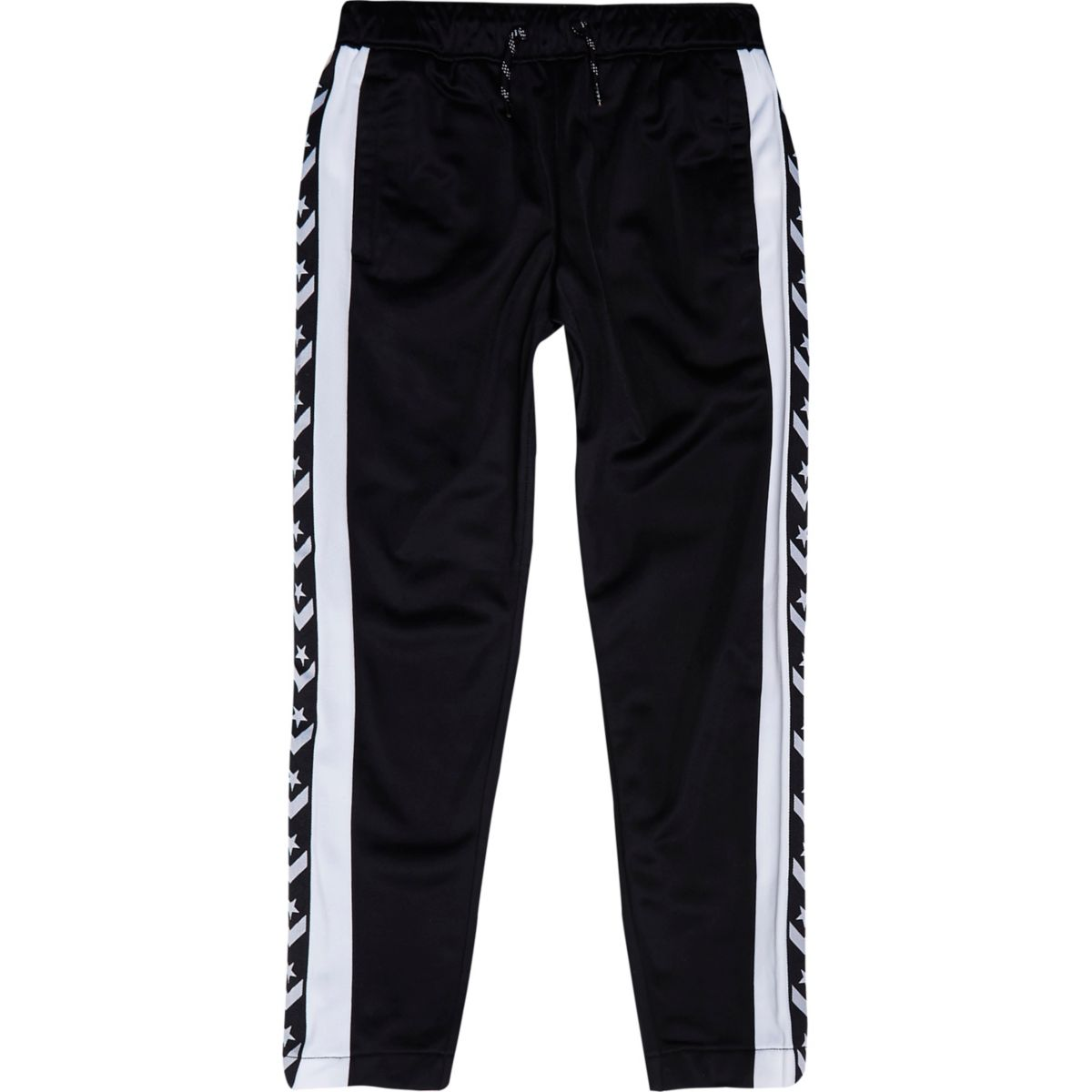 Boys black Converse tracksuit bottoms