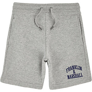 Boys grey Franklin & Marshall sweat shorts
