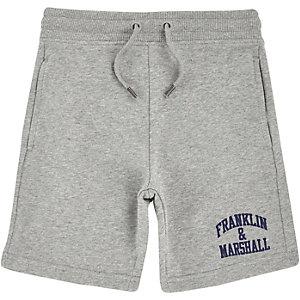 Franklin & Marshall - Grijze sweatshort voor jongens