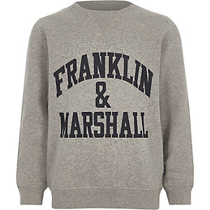 Boys grey Franklin & Marshall sweatshirt