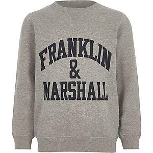 Franklin & Marshall – Sweatshirt gris pour garçon