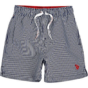 Boys navy U.S. Polo Assn. swim trunks