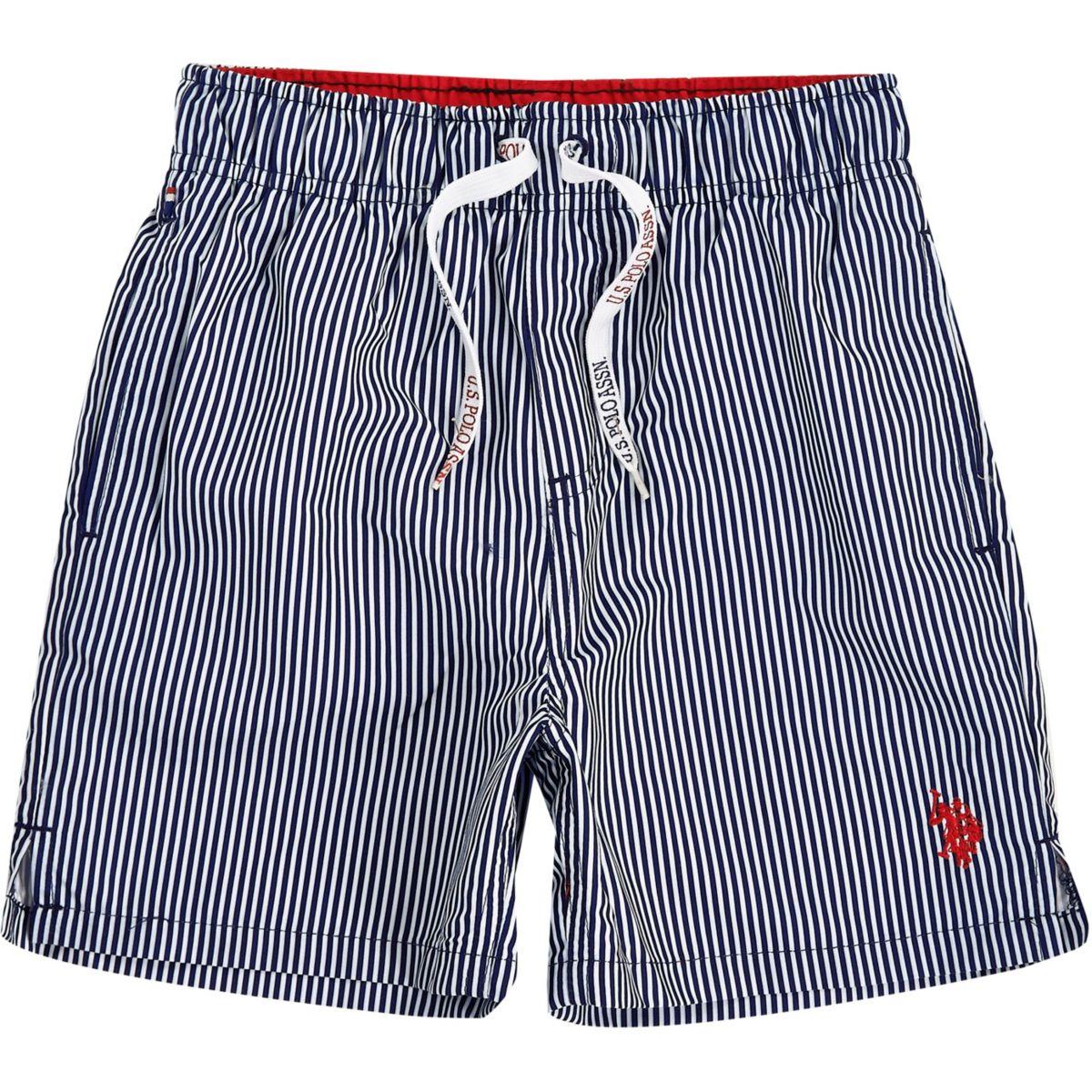 Boys navy U.S. Polo Assn. swim trunks