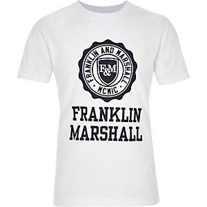 Franklin & Marshall – Weißes, bedrucktes T-Shirt