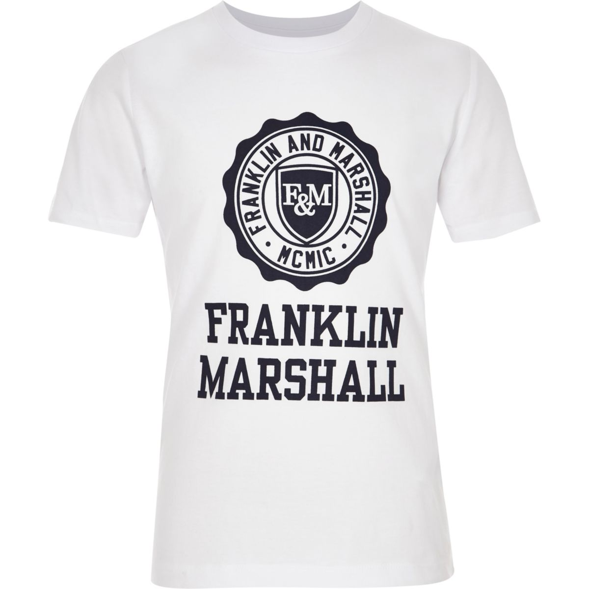 Boys white Franklin & Marshall print T-shirt