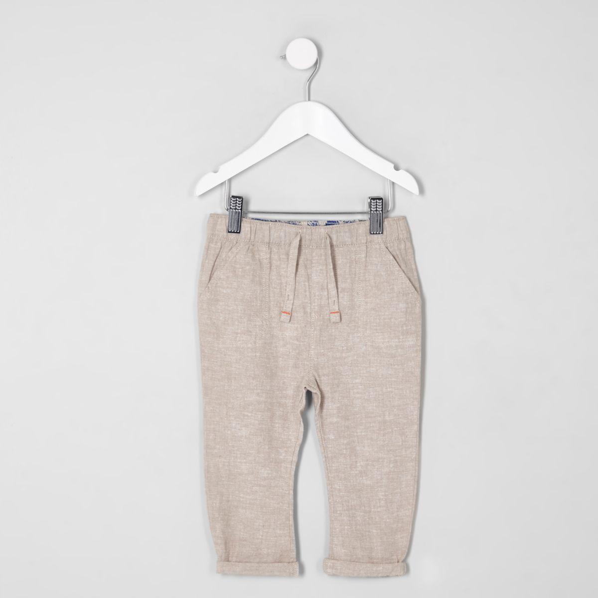 Mini boys stone linen pants