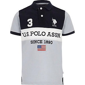 U.S Polo Assn. - Marineblauw poloshirt voor jongens