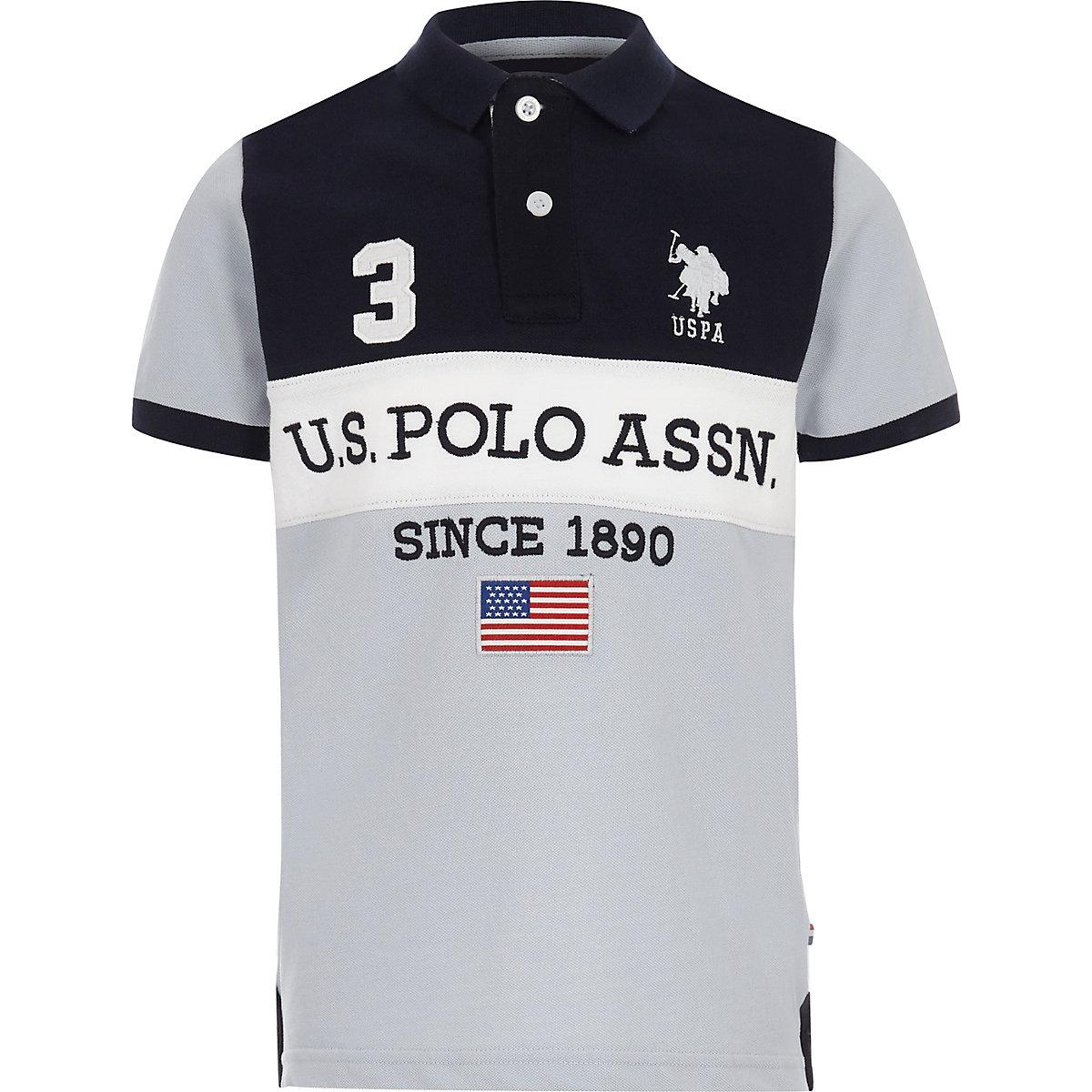 U.S. Polo Assn. – Polo bleu marine pour garçon