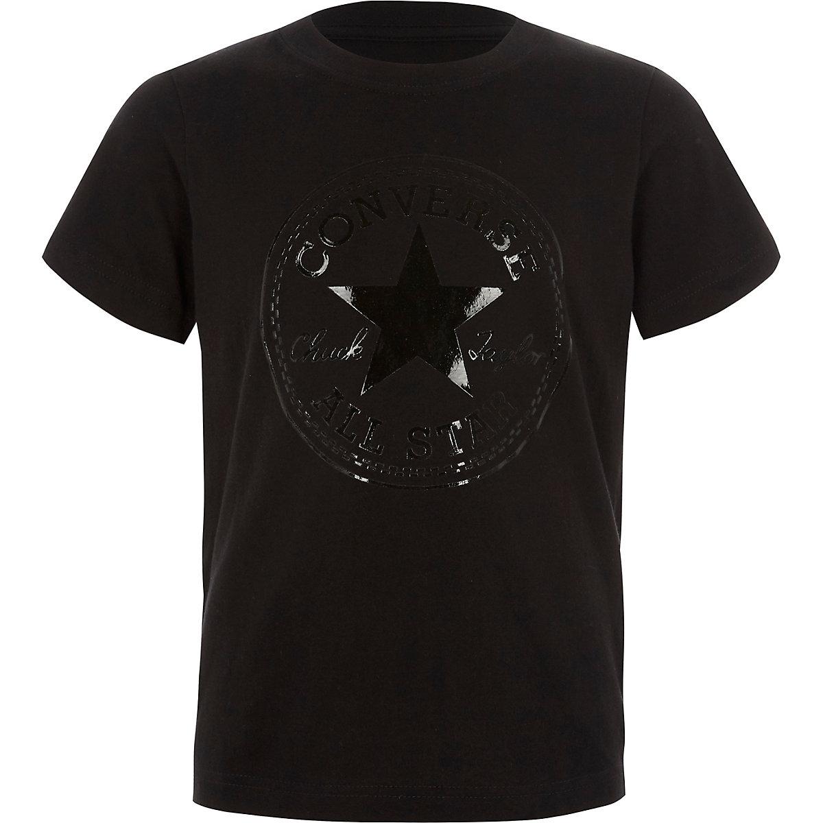 9d355fcbac91 Boys Converse black foil logo T-shirt - T-shirts - T-Shirts   Vests - boys