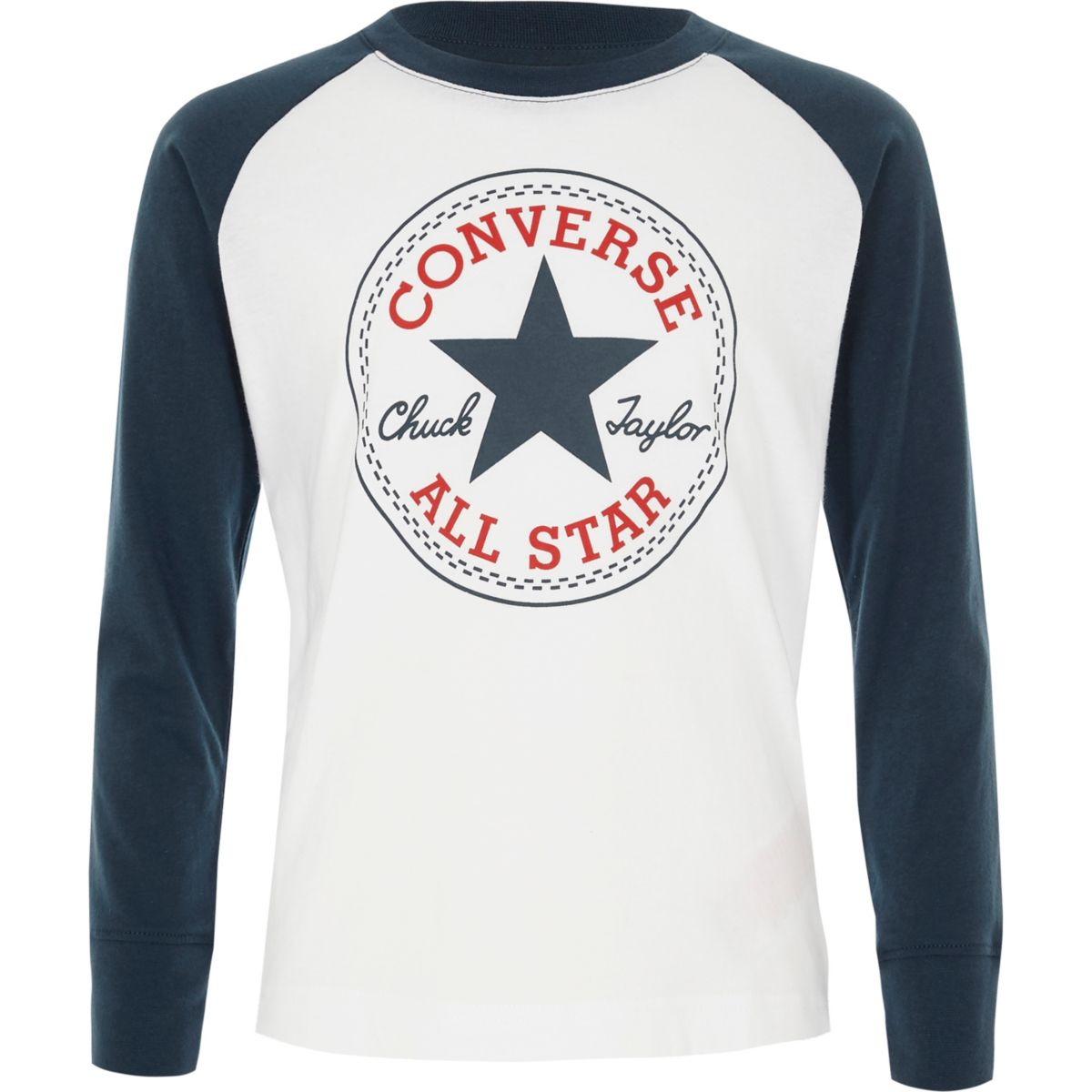 Boys white long sleeve Converse T-shirt