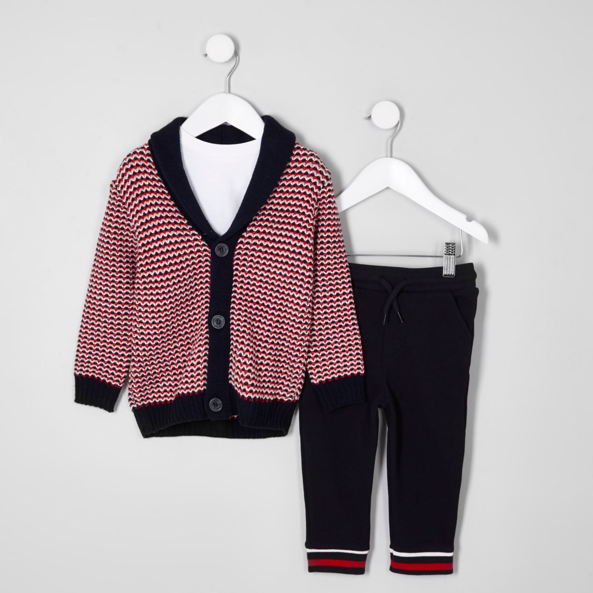 Mini - Outfit met jacquard vest voor jongens