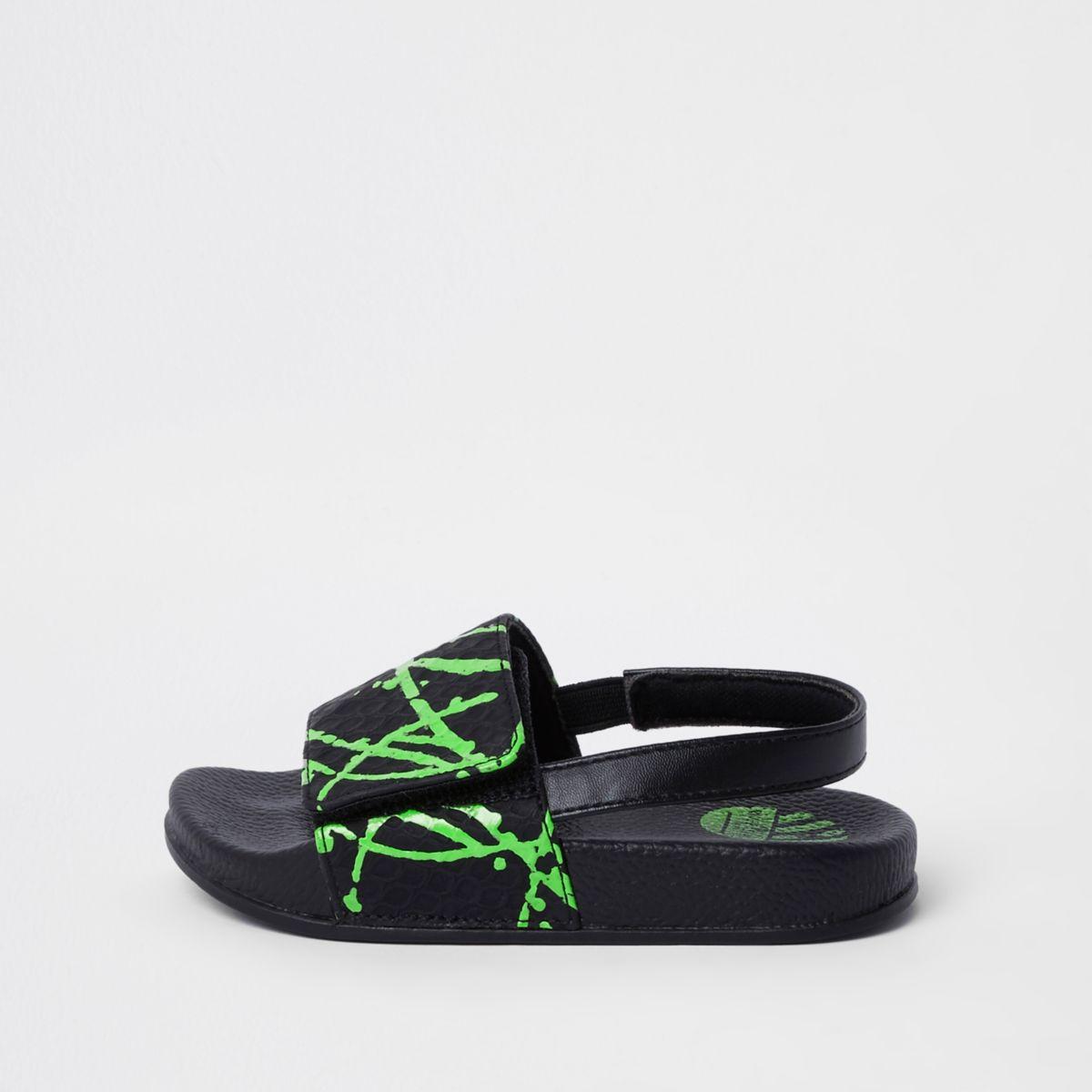 Mini boys green paint splat slider